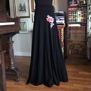 Anthropologie thyme & honey maxi black skirt